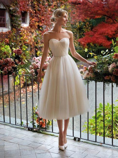 15 abiti da sposa corti👗 1
