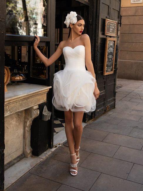 15 abiti da sposa corti👗 3