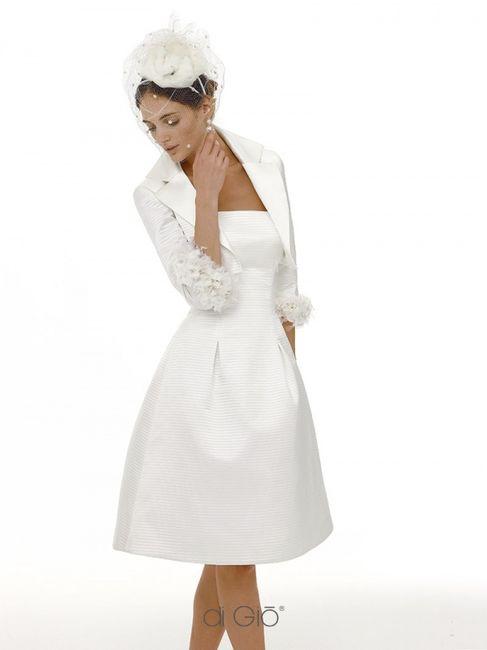 15 abiti da sposa corti👗 9