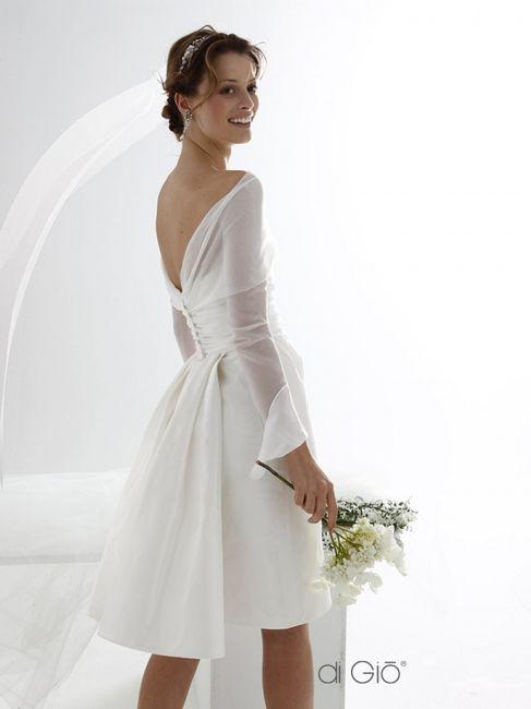 15 abiti da sposa corti👗 11