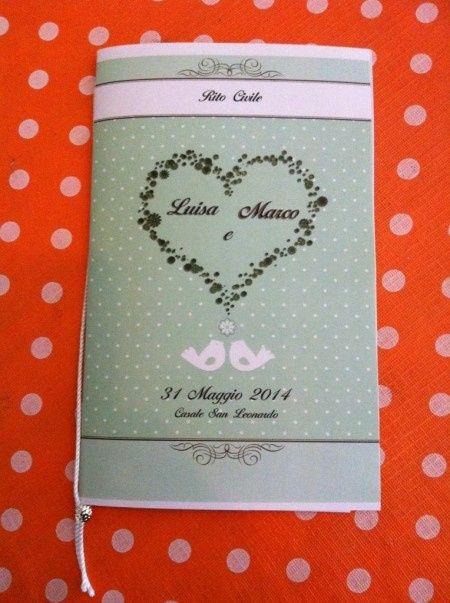 Libretti Matrimonio Rito Romano : Libretto rito civile copertina e testo fai da te