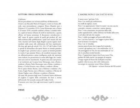 Libretto rito civile: copertina e testo 5