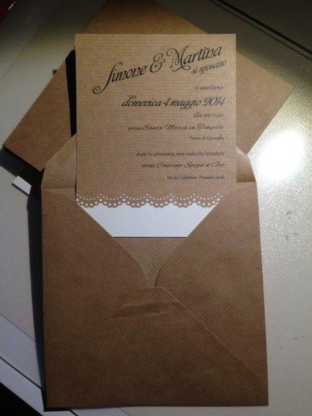 Partecipazioni Matrimonio Country Chic Fai Da Te : Amazon partecipazioni matrimonio handmade