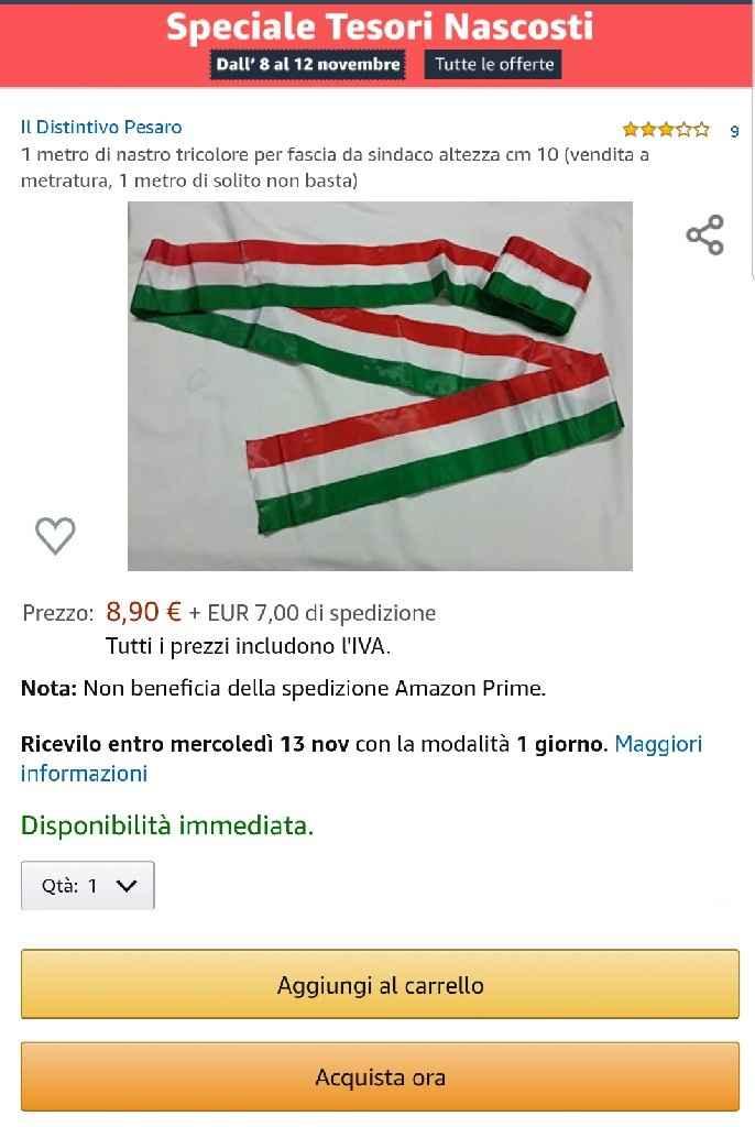 Fascia tricolore. - 1