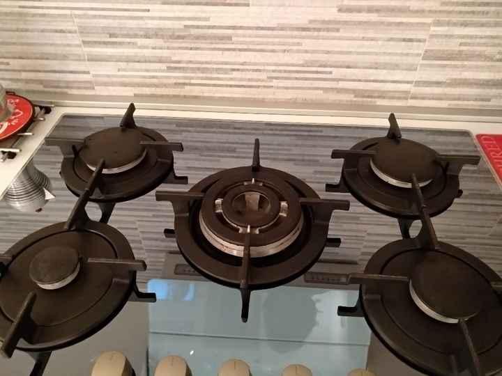 Piano cottura in vetro color nero - 1
