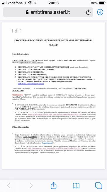Matrimonio italiana e albanese 1