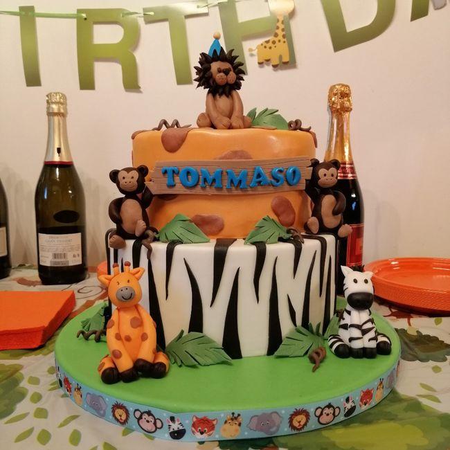 Prima torta compleanno maschietto e dettagl vari - 1