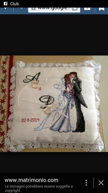 Cuscino portafedi 2 foto prima delle nozze - Cuscino portafedi punto croce ...