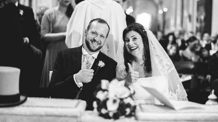 in chiesa finalmente marito e moglie