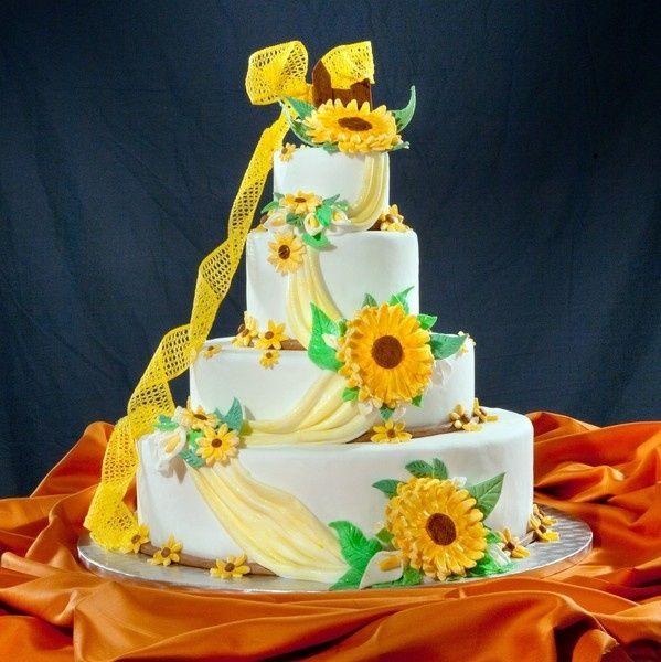 Matrimonio Con Tema I Girasoli : Torta nuziale ricevimento di nozze forum matrimonio