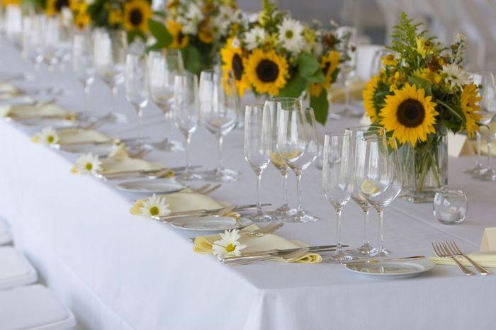 Tavoli Matrimonio Girasoli : Allestimento tavoli girasoli foto organizzazione matrimonio