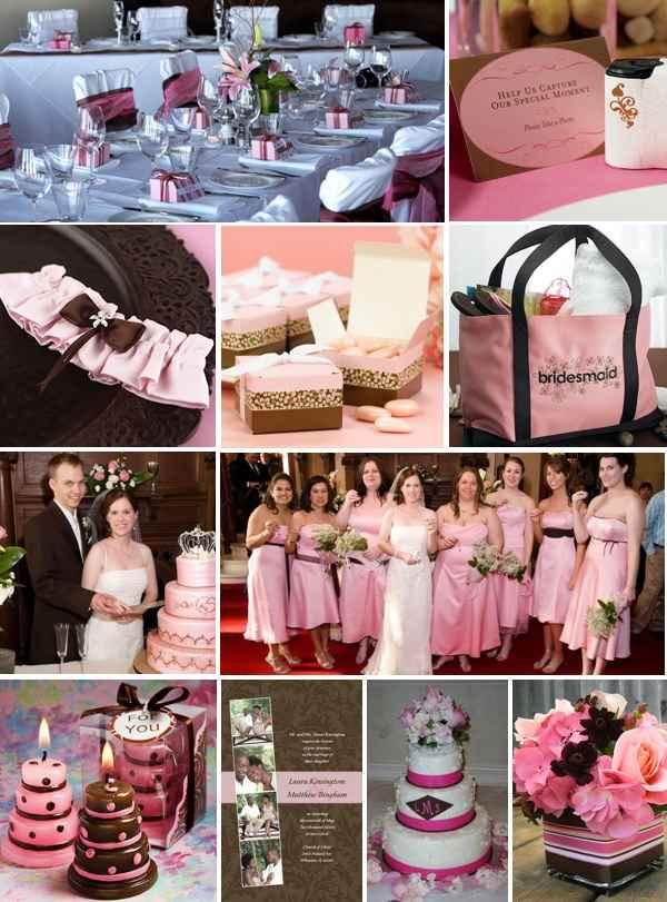 Matrimonio rosa - marrone