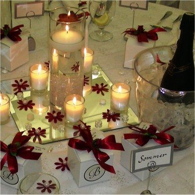 Red Wedding Centerpieces Decor