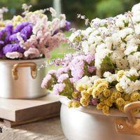 centrotavola pentole con fiori