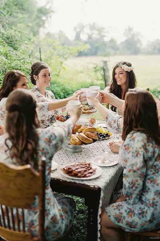 Colazione sposa e damigelle il grande giorno