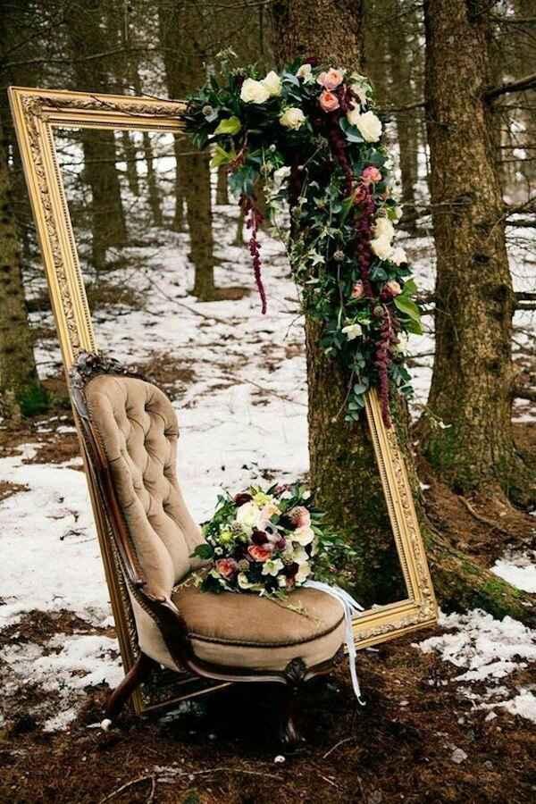 Sfondo per photobooth invernale