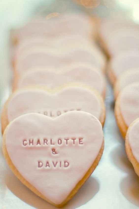 Biscotti con nomi sposi