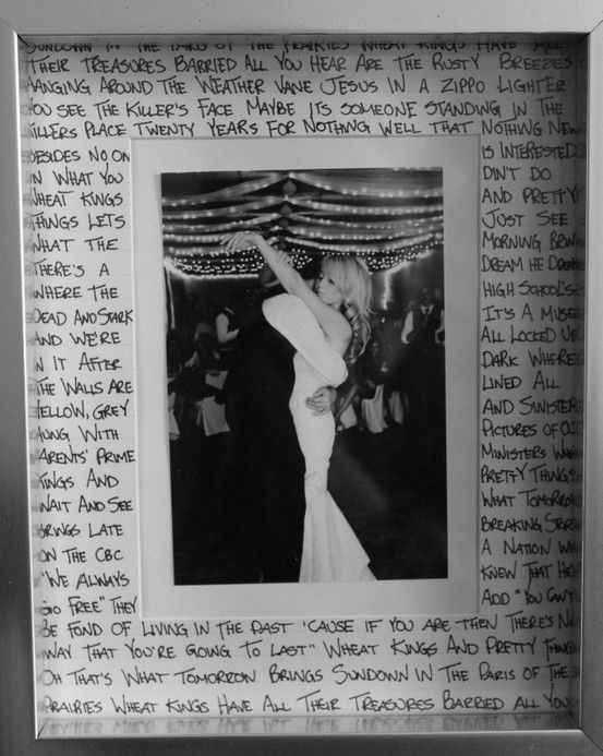 Foto del matrimonio + voti nuziali a cornice!