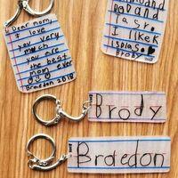 Portachiavi scritti dai bimbi!