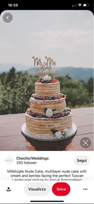 Panico torta nuziale 😭 11