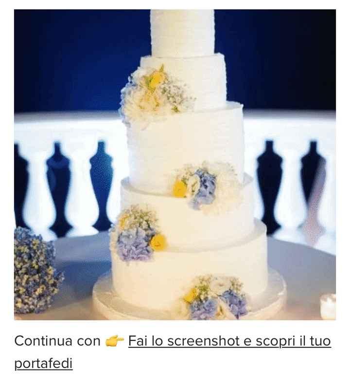 Fai lo screenshot e scopri la tua torta nuziale 13