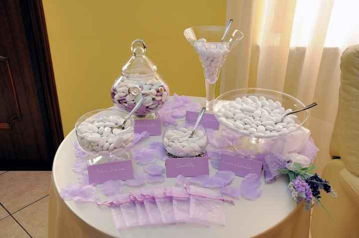 Tavolo confettata a casa della sposa