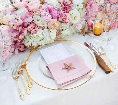 allestimento tavolo (versione in rosa)