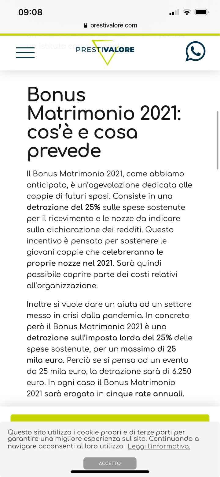 Bonus matrimoni 2021 - 3