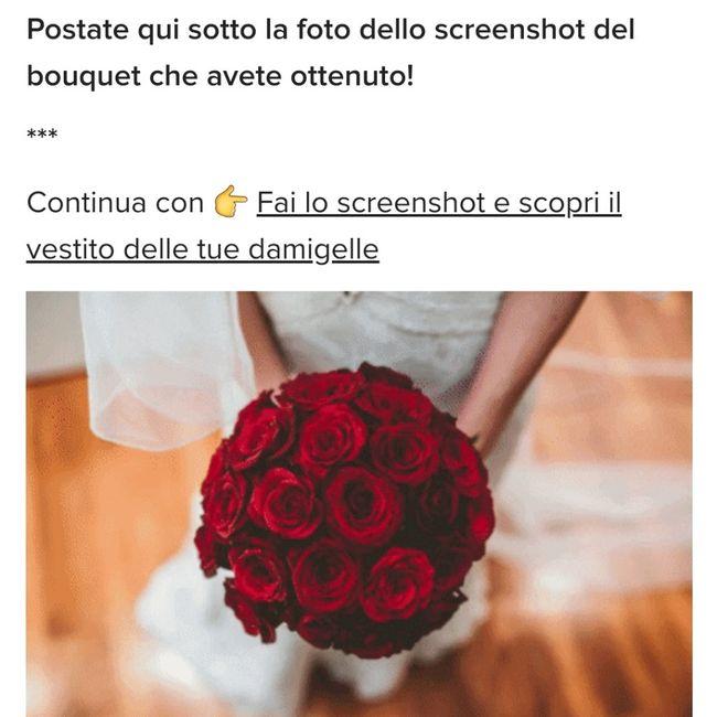 Fai lo screenshot e scopri il tuo bouquet 2