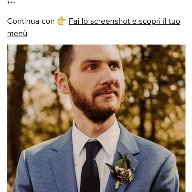 Fai lo screenshot e scopri il vestito dello sposo 2