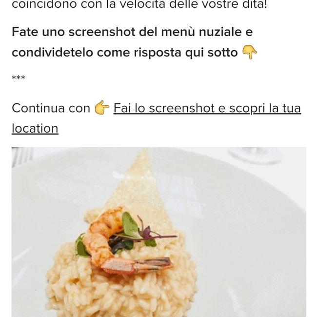 Fai lo screenshot e scopri il tuo menù 2