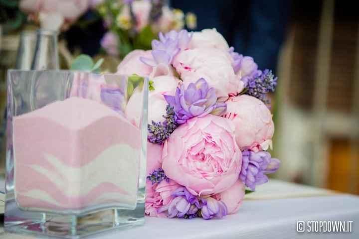Bouquet peonie e lavanda