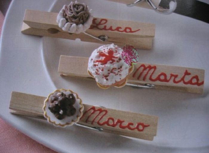 segnaposto matrimonio tema dolci