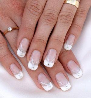 Delicate Wedding Nail Designs