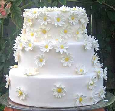 torta con margherite