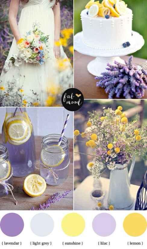 Lilla, bianco e giallo: la mia preferita