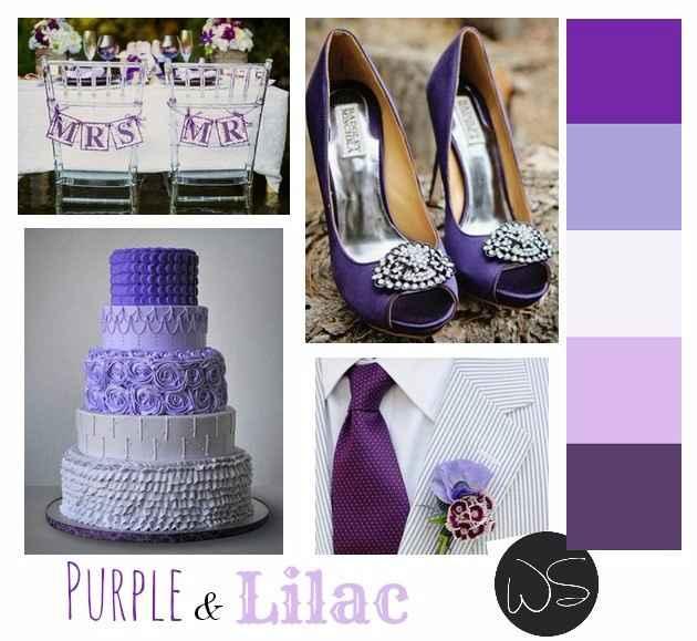 Lilla, viola e bianco