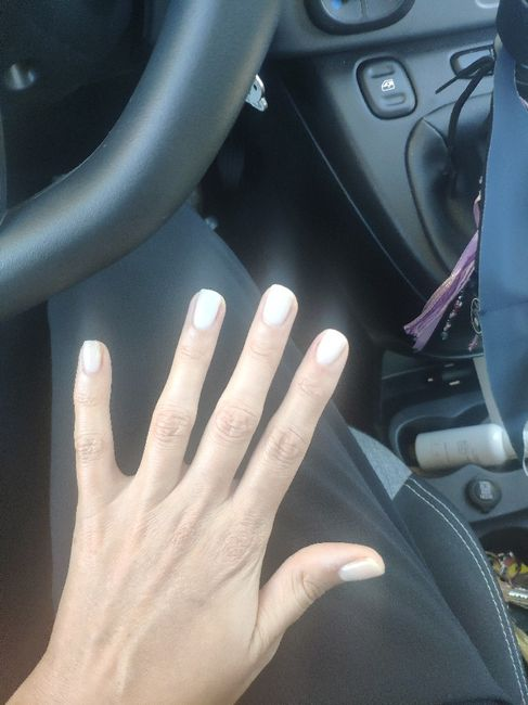 Wedding nails - baby boomer 4