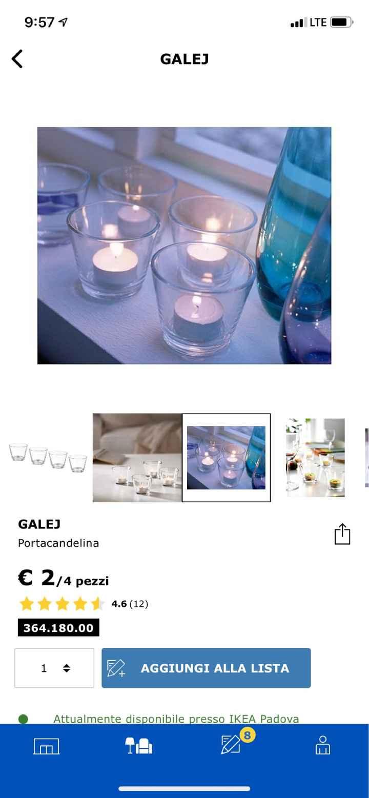 Ampolline trasparenti per candele - 1