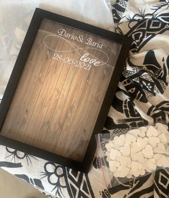 Esperienza acquisto guest book cuori legno 5