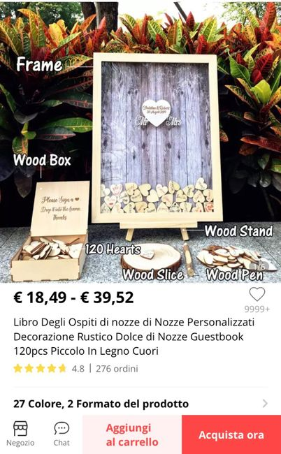 Esperienza acquisto guest book cuori legno 4