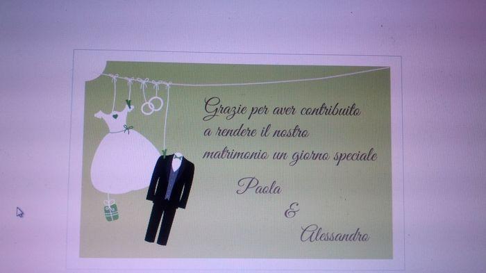 Favorito Bozza biglietti ringraziamento - Fai da te - Forum Matrimonio.com AN66