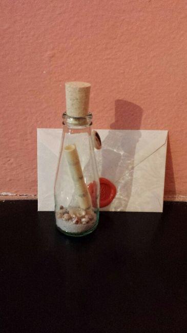 Partecipazioni in bottiglia tema mare - 1