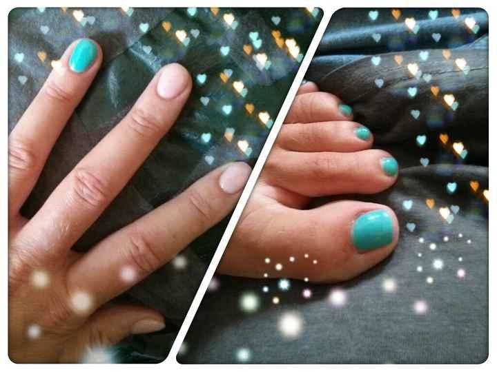 Le mie unghie!!!! Rosa e Tiffany!!!! - 1