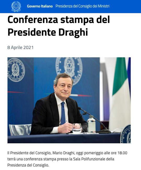 Draghi conferenza stampa 8 aprile 2021 1