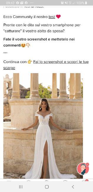 Fai lo screenshot e scopri il tuo abito da sposa 21