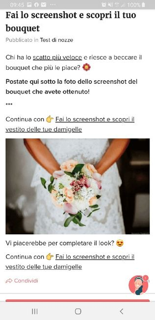 Fai lo screenshot e scopri il tuo bouquet 19