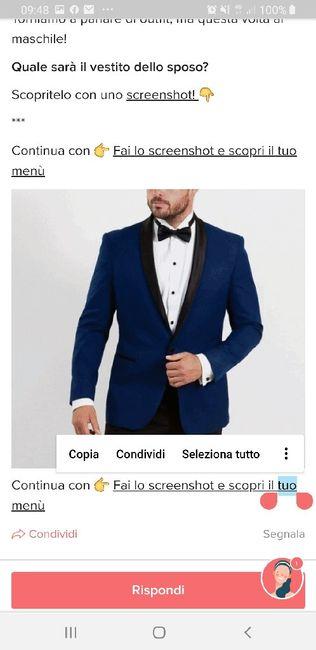 Fai lo screenshot e scopri il vestito dello sposo 19