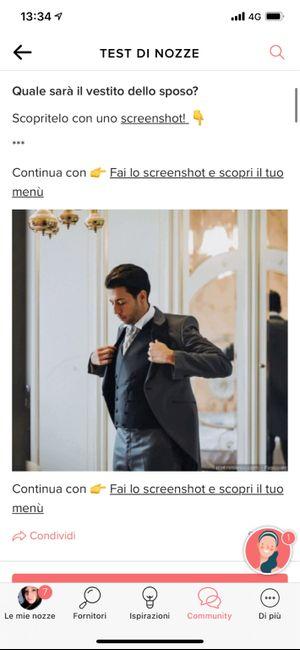 Fai lo screenshot e scopri il vestito dello sposo 23