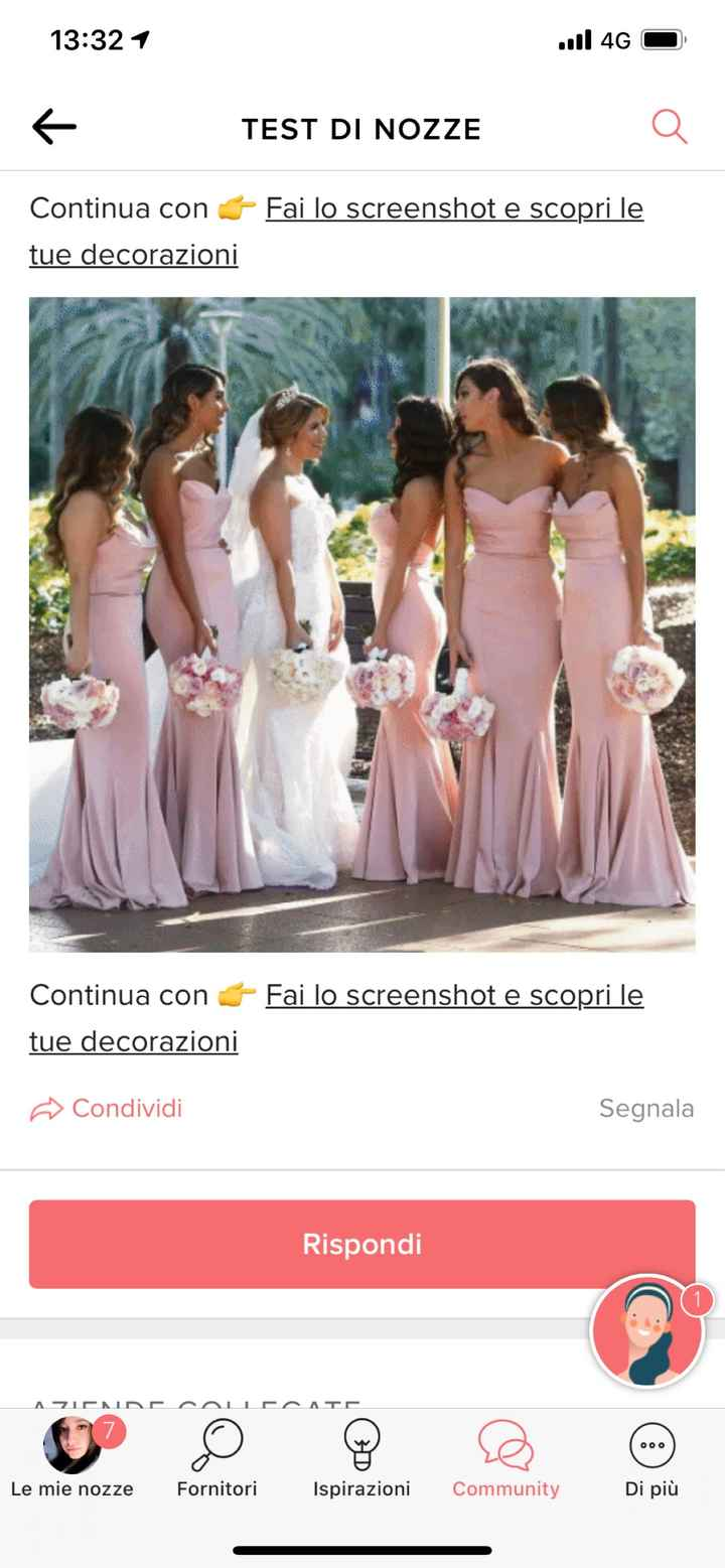 Fai lo screenshot e scopri il vestito delle tue damigelle - 1